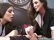 Cfnm maids suck and fuck dude in hotel
