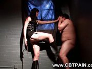 kick in the balls and spanking