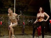 Mz. Berlin Humiliates, Fucks, and Punishes slave with No