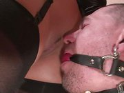 Chastised and gagged boy