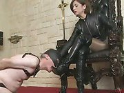 Polish her leather boots