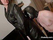 BBW dilettante leather clad Mistress