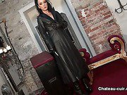 Cum on your goddess leather coat