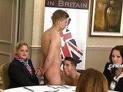 A boy-on-boy sex show