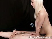 Blonde Femdom Face Sitting Submissive Guy