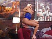 Bigbreasted blonde femdom cuckolding