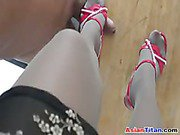 Stepping On A Cock In Heels