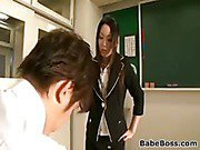 Asian With A Strap-On In Class