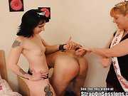 Double Pegged By the Strap On Princess and the Duchess of