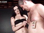 Male sex slave dick tortured in BDSM video