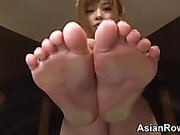 Asian Teases Her Feet And Soles
