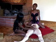 White dominated through ebony femdom girls