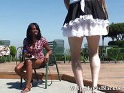 Guy humiliated by black femdom bitch