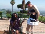Guy humiliated by black femdom bitch