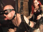 The slutty slave is in for a surprise