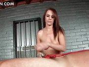 Mistress giving male sex slave cock torture