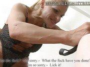 Nasty Slave Rimjob To His Mistress