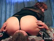 Big butt mature facesits and orgasms from pussy tasting and