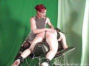 Domina punishing the slave