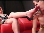 Eva Long - Foot Worship in a Prong Collar
