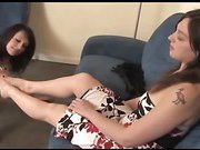 High Heel Licking, Humiliation, and Lesbian Foot Worship