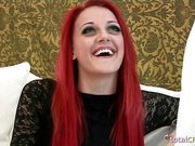 Classy redhead Brigitte