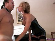 Tiffany spanks the hell out of a stud