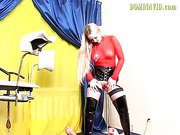 Blonde Babe Pisses On A Guy