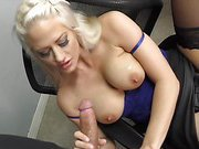 Busty MILF blow and play the cock