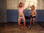 Pretty boy slave humiliated by Mistress Cherry Torn