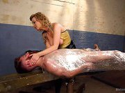 Pretty boy slave humiliated by Mistress Cherry Torn