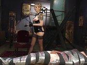 Maitresse Madeline mummifies slave boy