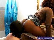 Ebony Maci Enjoys Pussylicking From Her Slave