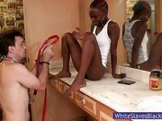 Ebony Babes Have Pleasure With Their Slave