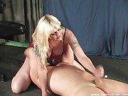 Smothering Handjob Mature Blonde