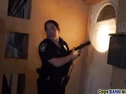 Big tits blonde lady police taking charge on black cock