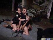 Slutty police women arresting their suspect's cock