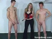 CFNM mistress and slaves