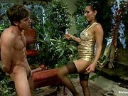 FemDom Isis Love gives slave a dose of CBT & CFNM by kicking
