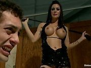 Gorgeous, hard body dominatrix humiliates and cuckolds her