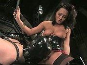 Asian mistress fucks slave boy