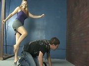 Slave licked cool mistress's feet