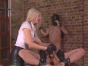 Mistress fucks slave by didlo