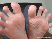 BEST footjob from young tattoo babe!