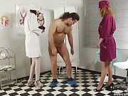 Bad patient was trampled by two sexy nurses