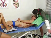 Amazing nurses use patient in femdom game