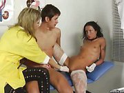 Medical pussy licking with two cool nurses