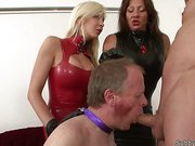 Two cruel mistresses punished daddy slave