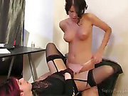 Sissy boy was fucked in the ass