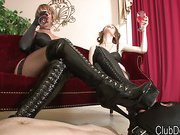 Boots are licked and worshipped